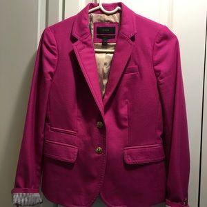 J.Crew Bright Pink Schoolboy Blazer Size 0